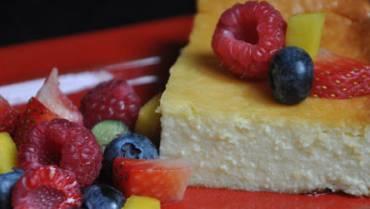 Delicious whey protein cheesecake
