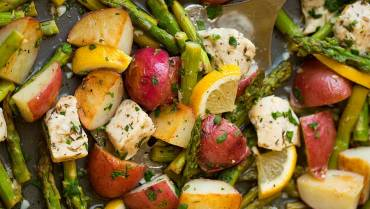 Baked Chicken Breast Sweet Potato & Asparagus
