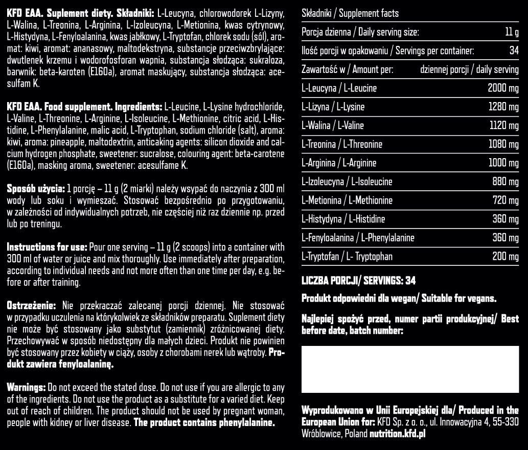 Amino Acids EAA KFD Nutrition Ingredients