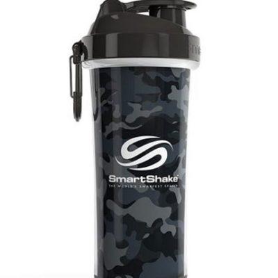 Protein Shaker Double Wall 750ml Camo Gray