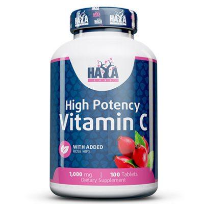 High Potency Vitamin C 1000mg Rose Hips 100 caps