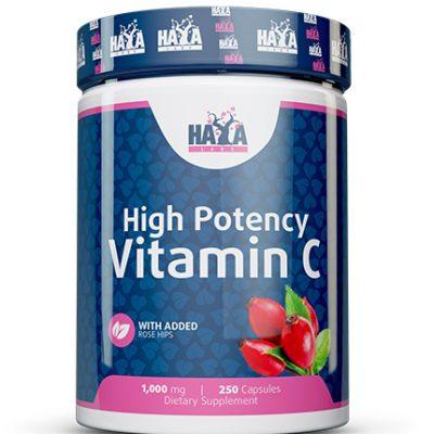 High Potency Vitamin C 1000mg Rose Hips 250 caps Haya Labs