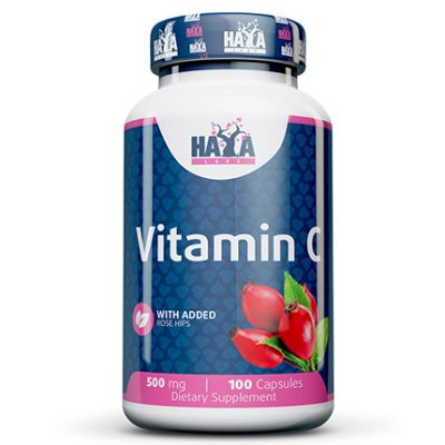 Vitamin C with Rose Hips 500mg 100 Caps